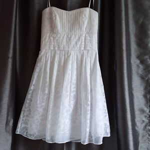B. Darlin White Strapless Party Dress